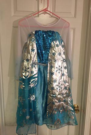 Frozen size 10 Dress Halloween costume Elsa for Sale in Riverside, CA