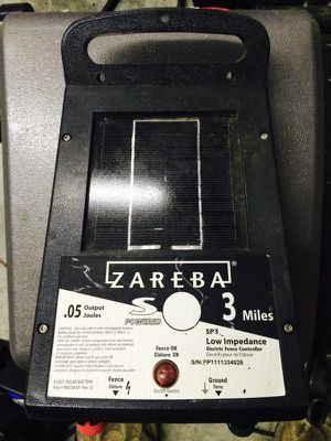 Zareba solar powered fence energizer for Sale in Knoxville, TN