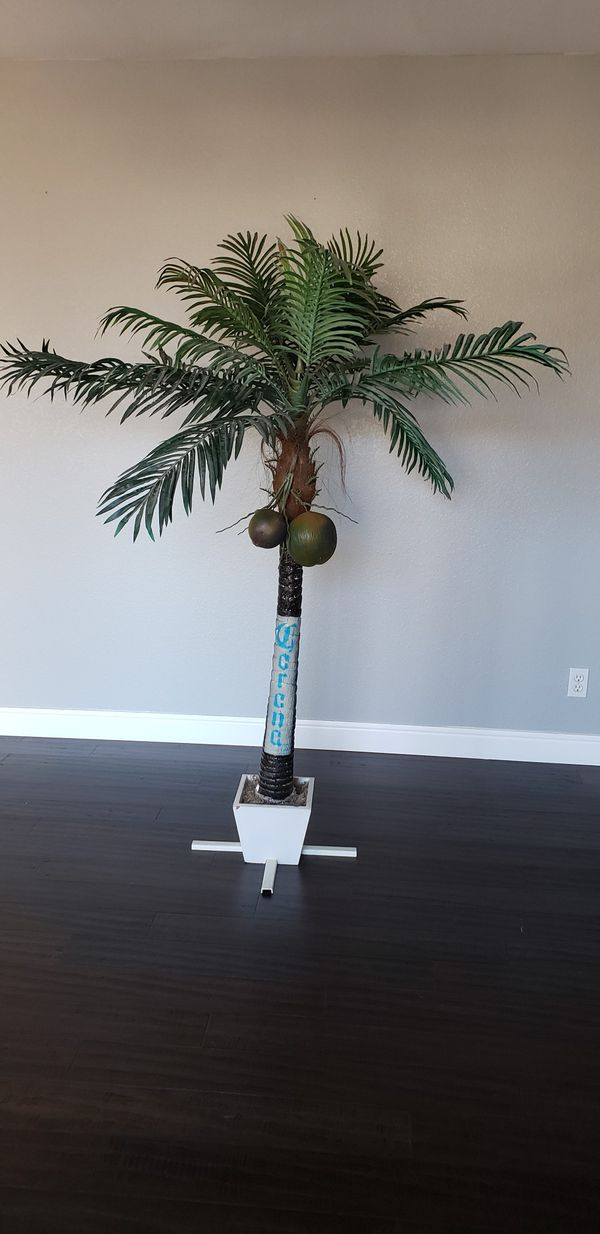 CORONA ARTIFICIAL PALM TREE COCONUT MANCAVE BAR BASEMENT GARAGE HOME DECOR