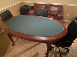 Nice poker table and 6 chairs for Sale in University Place, WA