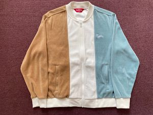 SUPREME VELOUR ZIP UP JACKET MEN'S SMALL BLUE WHITE BROWN 2018 for Sale in San Francisco, CA