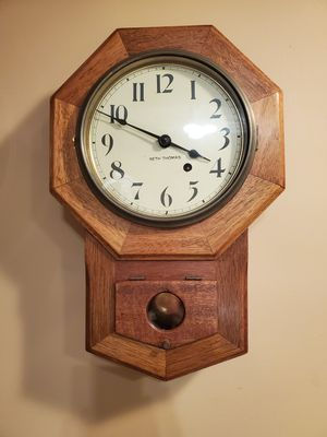 Antique Seth Thomas School Clock Serviced for Sale in Northbrook, IL