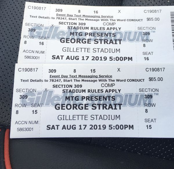 2 free Tickets for George strait Blake Shelton tonight