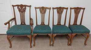 Rare Antique Oak Chippendale Dining Chairs for Sale in North Chesterfield, VA