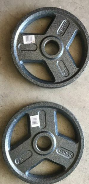 2 25 LB OLYMPIC WEIGHT PLATES for Sale in Visalia, CA