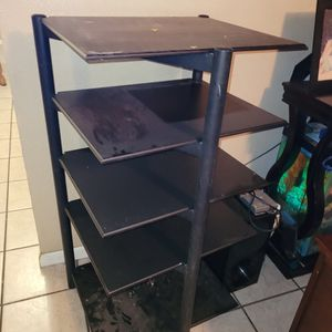 Free Black Shelf Table Pick Up Only for Sale in Phoenix, AZ