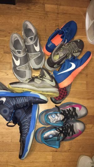 Nike basketball shoe bundle (5 pairs) size 12-13 for Sale in Rockville, MD