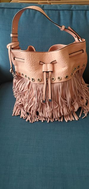 Pink bag with fringe for Sale in Chantilly, VA