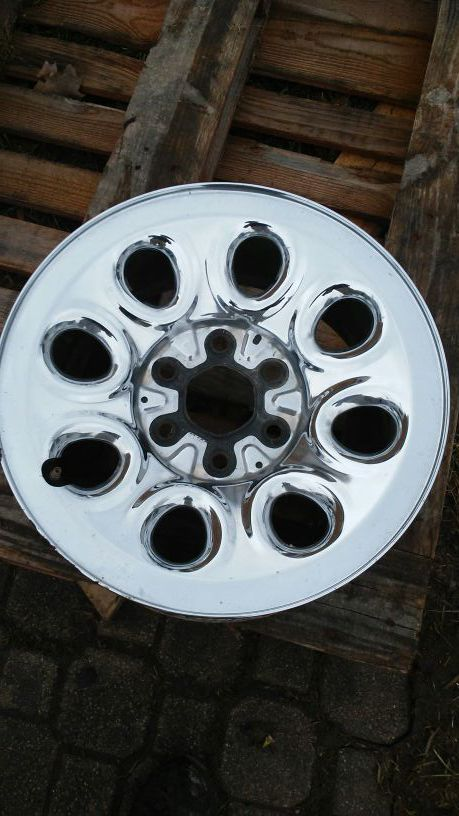 17in 6 lug rims chrome plated $150
