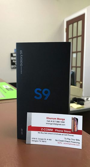 Samsung Galaxy S9 - 64Gb - Like New / Like New In Box / Cracked - Factory Unlocked Starting @ for Sale in Arlington, TX