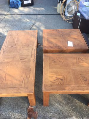 Coffee table and end tables for Sale in Pleasanton, CA