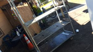 Large metal shelves with wheels for Sale in San Antonio, TX