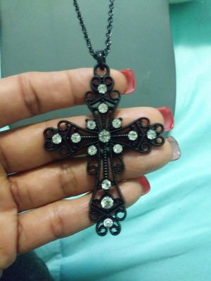New long crystal cross pendant necklace for Sale in Yonkers, NY