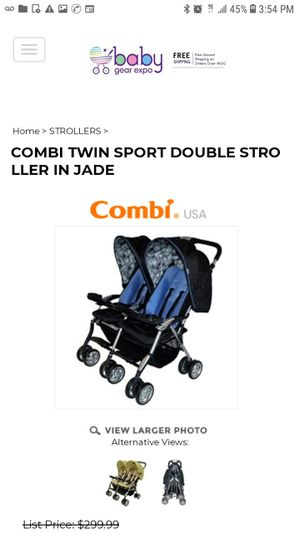 Baby or toddler double twin sport compact stroller for Sale in Honolulu, HI