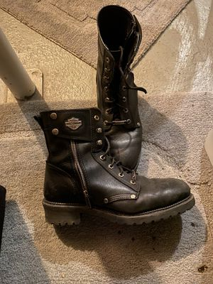 Harley Davidson leather motorcycle boots for Sale in Warren, MI