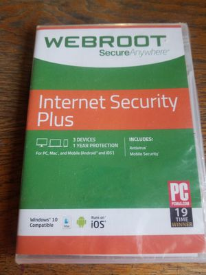 Webroot internet secuirty plus for Sale in Odessa, NY