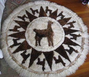 "Real llama alpaca fur rug/wall hanging 54"" diameter NO OFFERS for Sale in Portland, OR"