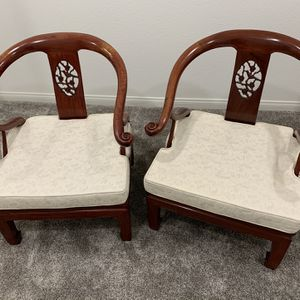 2 New Cherry Wood Chairs for Sale in Irvine, CA