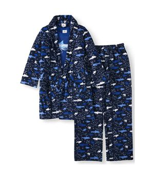Boy's 3 Pieces Thermal Pajama Set With Fleece Robe! Size 8/10 for Sale in Rockville, MD