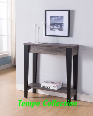 NEW, Console Sofa Table, Distressed Grey and Black Finish, SKU# 161619 for Sale in Santa Ana, CA