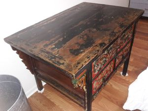 antique square table for Sale in Houston, TX