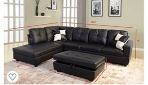 2 piece sectional with ottoman guaranteed lowest price. for Sale in Alexandria, VA