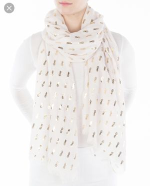 Pineapple Gold Embellished Scarf _ -New with Tags Soft Sheer Summer for Sale in New Market, MD