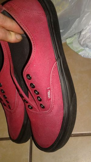 Vans red black for Sale in Las Vegas, NV
