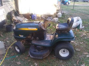I have a Craftsman riding lawn mower $150 cash all it needs is a mowing deck belt for Sale in Saratoga, TX