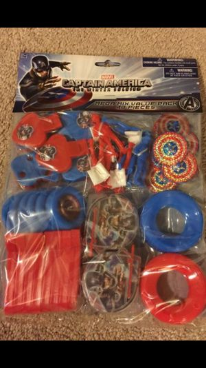 Captain America Party Favor Pack 48 pieces New for Sale in Baldwin Park, CA
