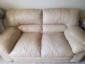 Leather small couch for Sale in Jacksonville, FL