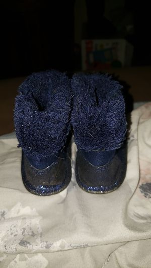 Size 2 cute blue baby girl boots for Sale in Redwood City, CA