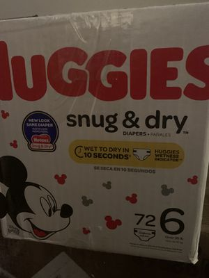 Huggies size 6 diapers for Sale in Los Angeles, CA