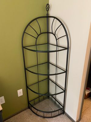 Queen Bed frame and corner showcase for Sale in Seattle, WA
