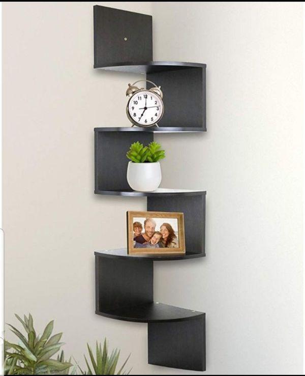 5 Tier Wall Mount Corner Shelves Bedroom Living Room Shelving