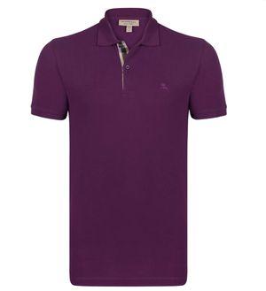 Burberry Pique Dark Royal Purple Polo Shirt for Sale in Hesperia, CA
