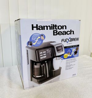 Hamilton Beach FlexBrew 2-Way Coffee Maker - Brew either fresh ground coffee or a K-cup pack - Must Have 👏 for Sale in Boynton Beach, FL