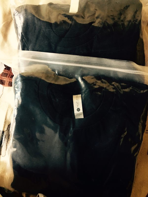 6 Large NEXTLEVEL blank t-shirts black color