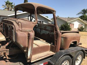 58 GMC big window short bed, looking for parts, doors, interior, seat, and 1955, 55, 1956, 56, 1957, or 57 hood, fenders, & grill. for Sale in Lemoore, CA