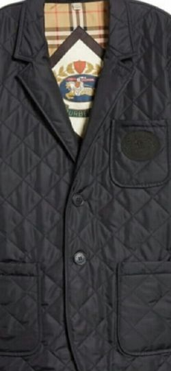 Burberry Clifton Blazer Jacket. New Authentic Size Large Black. With Tags And Proof Of Purchase Retails $790 Selling $490 for Sale in Vernon,  CA