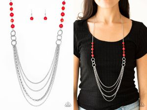Vividly vivid red necklace and earring for Sale in Gaithersburg, MD