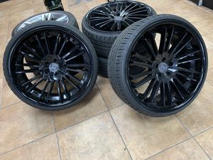 """22"""" inch Lexani wheels and tires $1200 OBO for Sale in San Diego, CA"""