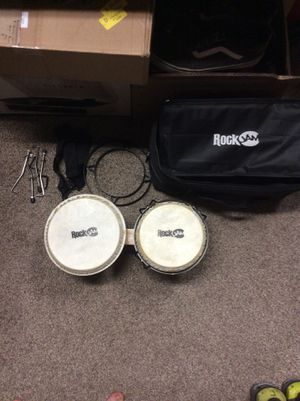 Rock jam bongos 7/8 with case/bag for Sale in Stockton, CA