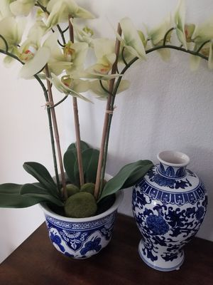Decorative flower plant and vase for Sale in Phoenix, AZ