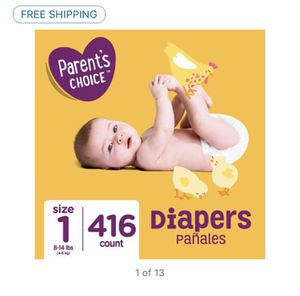 Parent's Choice Baby Diapers, Size 1- 416 count for Sale in Rahway, NJ