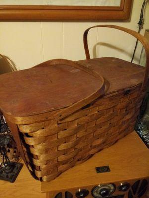 Huge!!! Real Wooden Picnic Basket!!! for Sale in Eldersville, PA