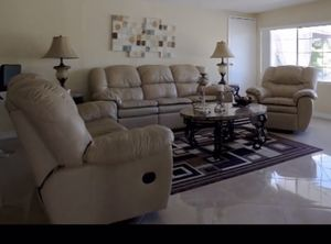 Reclining leather sofas from living spaces paid around 6-7k for Sale in Chula Vista, CA