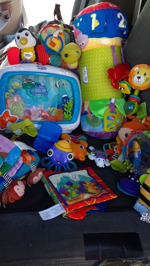 Large bag of baby clothes and toys 80 pieces or more for Sale in El Paso, TX