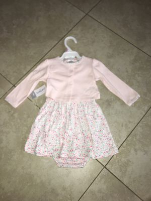 Carter's Baby Girl Dress and Sweater Set, Size 9 months for Sale in San Diego, CA
