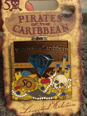 Disney pirates of the Caribbean 50th pin for Sale in Santa Monica, CA